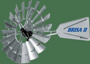 Molino de Viento Brisa II® | Aermotor® de 12´ Incluye torre adaptadora para instalar en cualquier otra marca 206075EMP