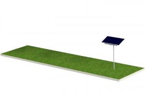 Soporte Tipo Monoposte Para 1 Panel Solar FIASA® de 300/335W 220900160
