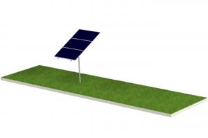Soporte para Panel Solar FIASA® para Piso Tipo Monoposte 220900180