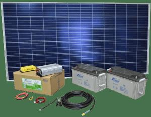 KIT SOLAR FIASA® N°3 1260W H/DÍA ENERGÍA SOLAR 230300040